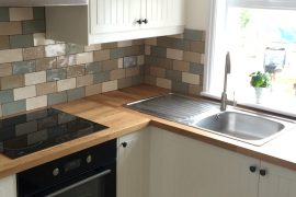 Compact low ceiling kitchen