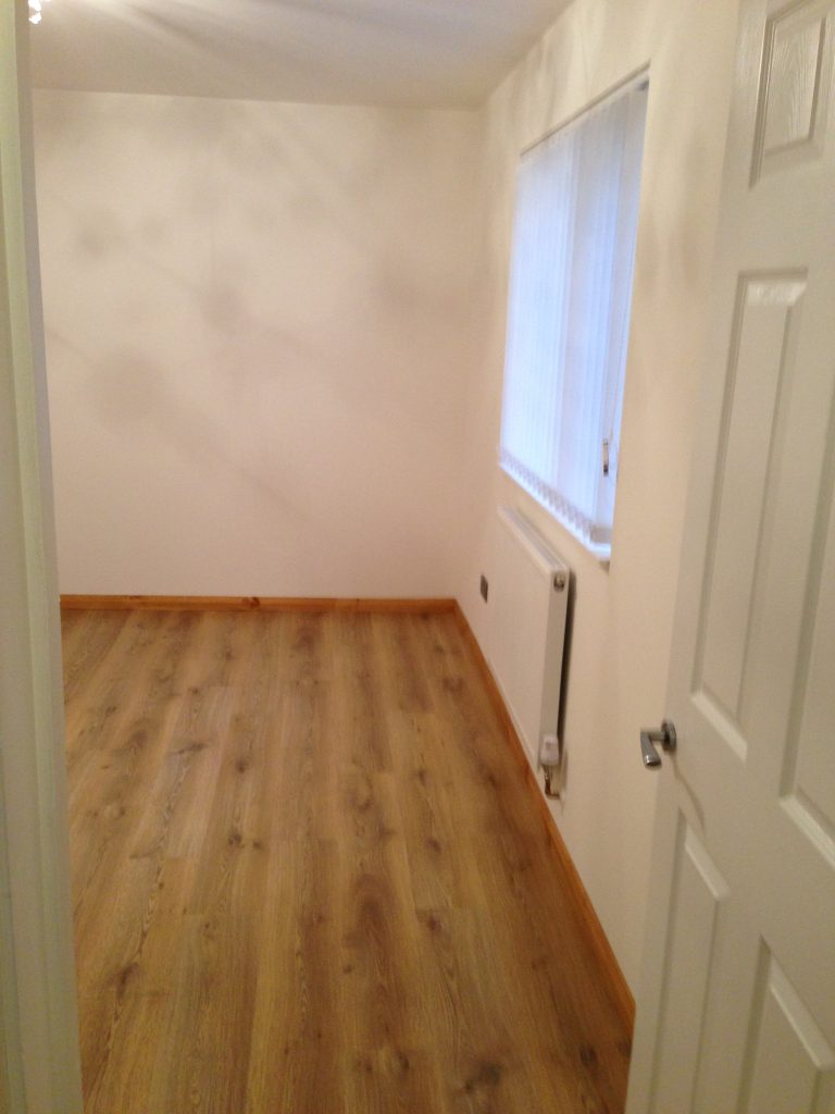 bedroom floor and door