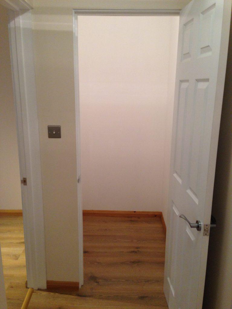 Flooring and open door