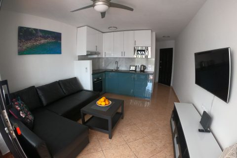 Compact kitchen in holiday apartment